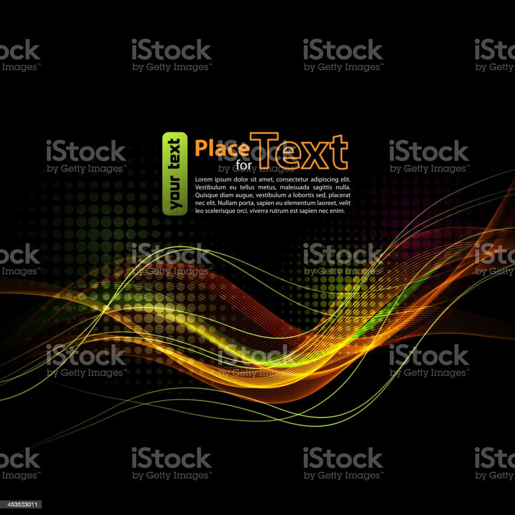 Abstract  wave design element royalty-free stock vector art