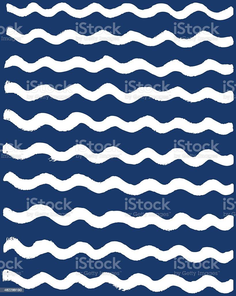 Abstract wave pattern vector art illustration
