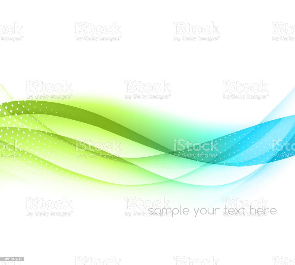 Abstract waved background vector art illustration