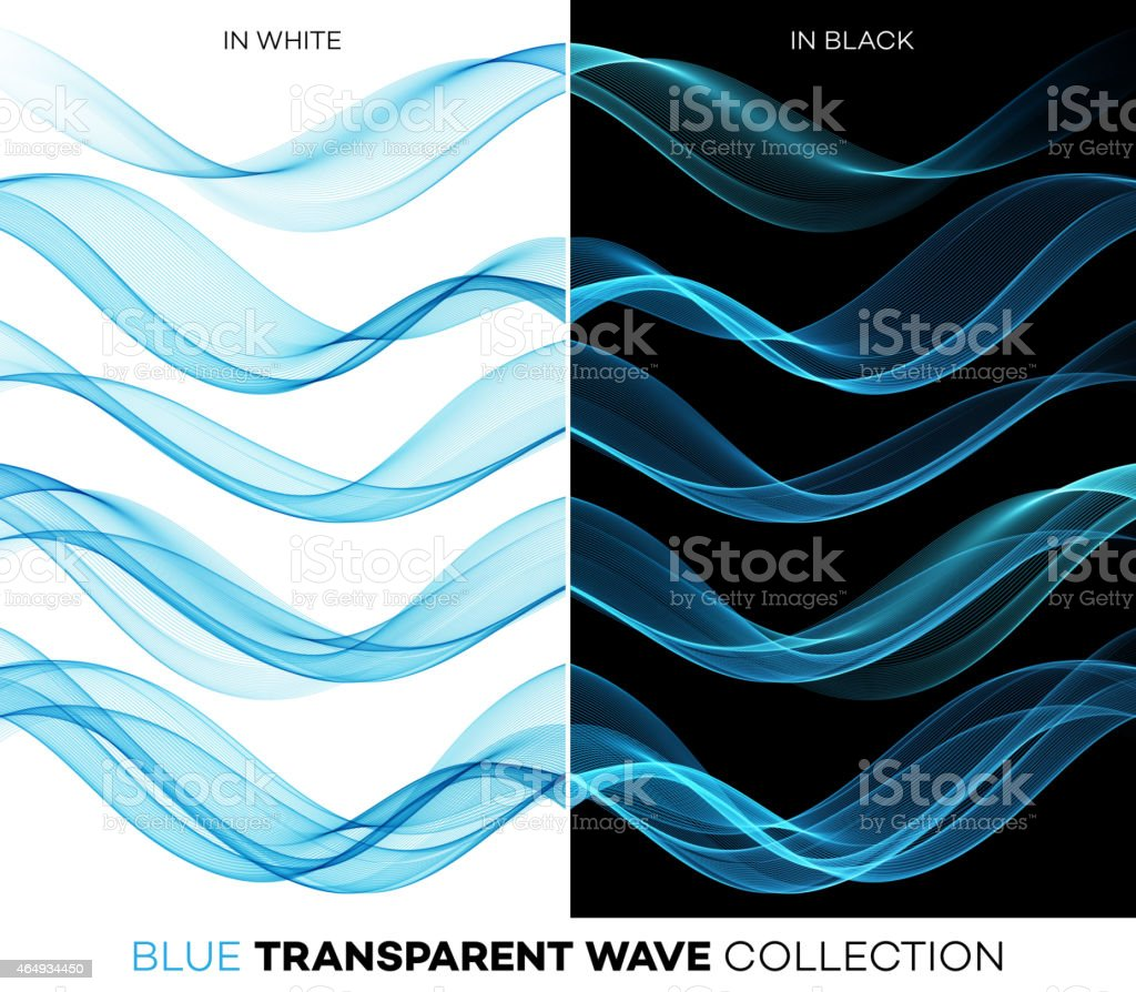 Abstract waved blue line pattern vector art illustration