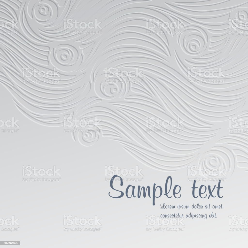 A abstract waves and roses card template vector art illustration