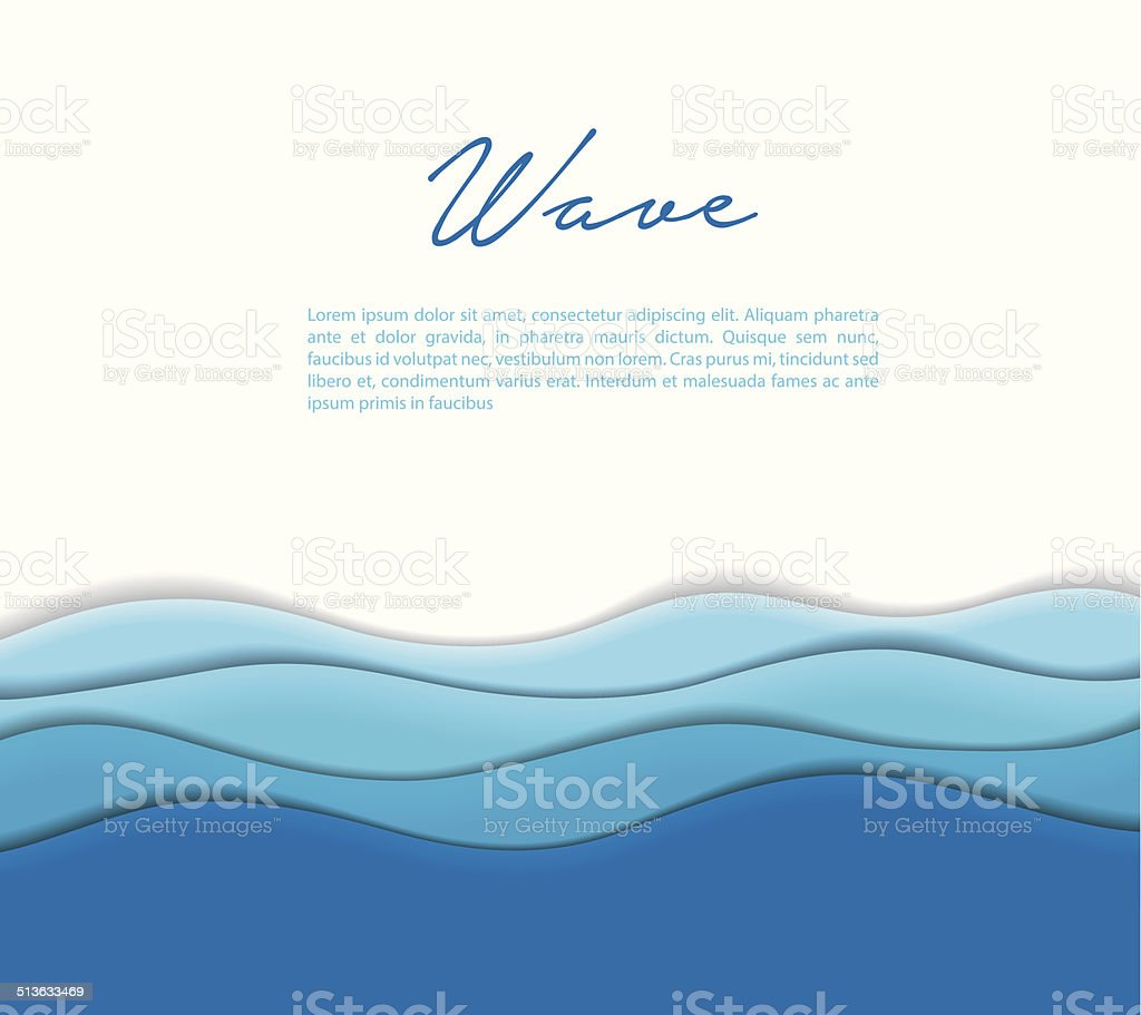 Abstract waves background vector art illustration