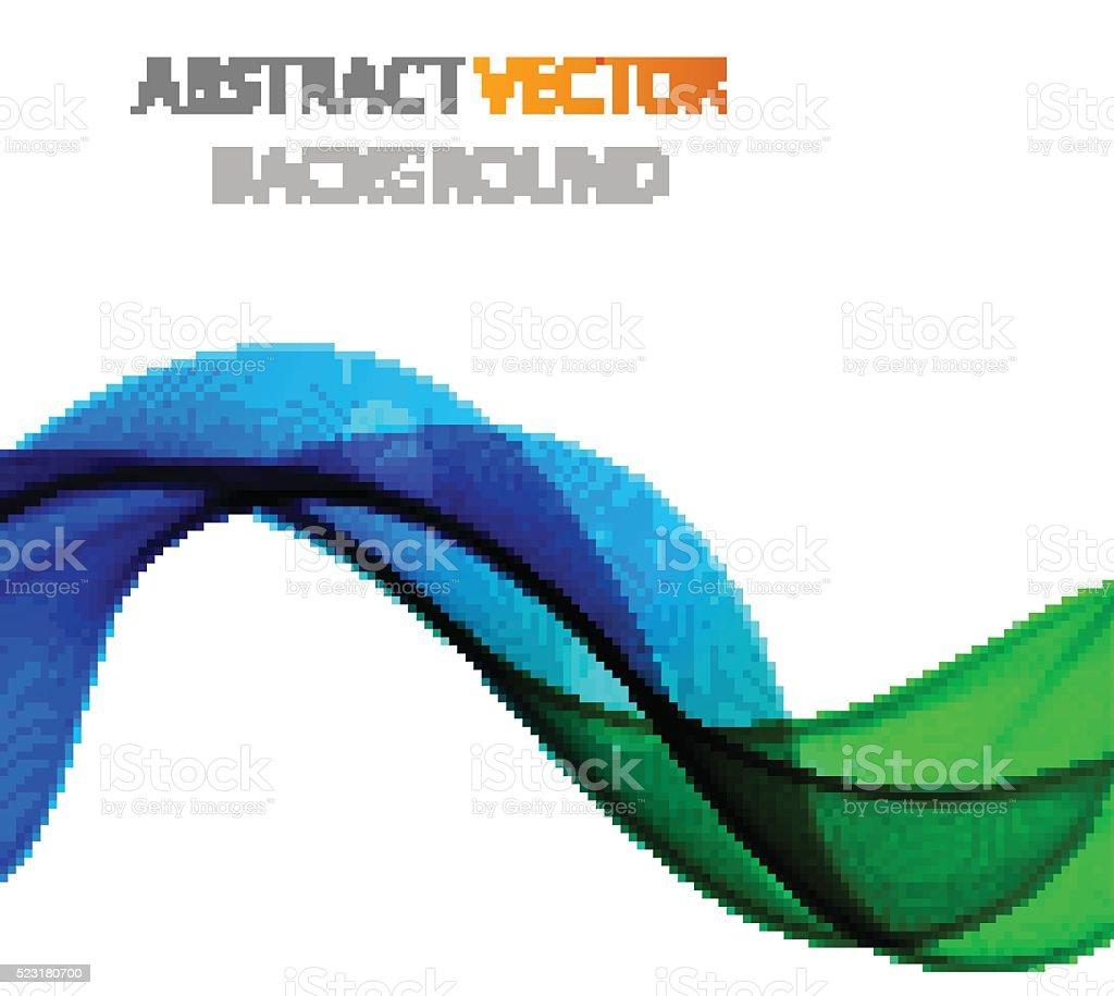 Abstract waves design vector art illustration