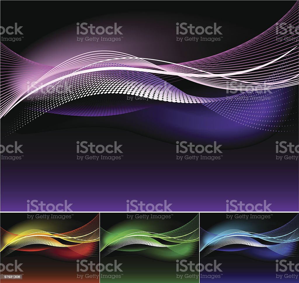 Abstract waves. vector art illustration