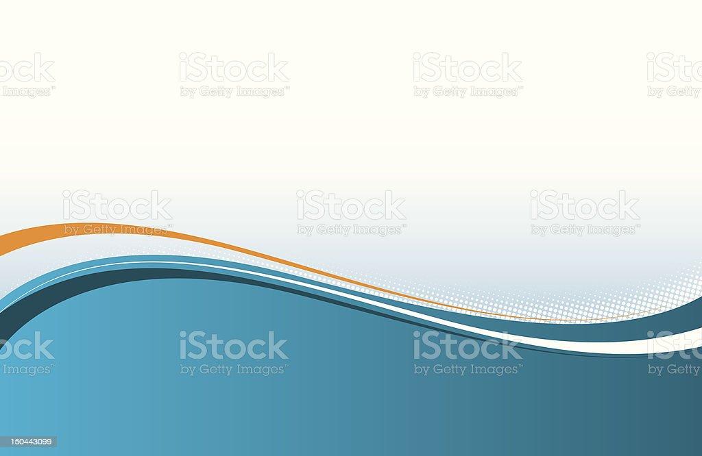 abstract wavy background vector art illustration