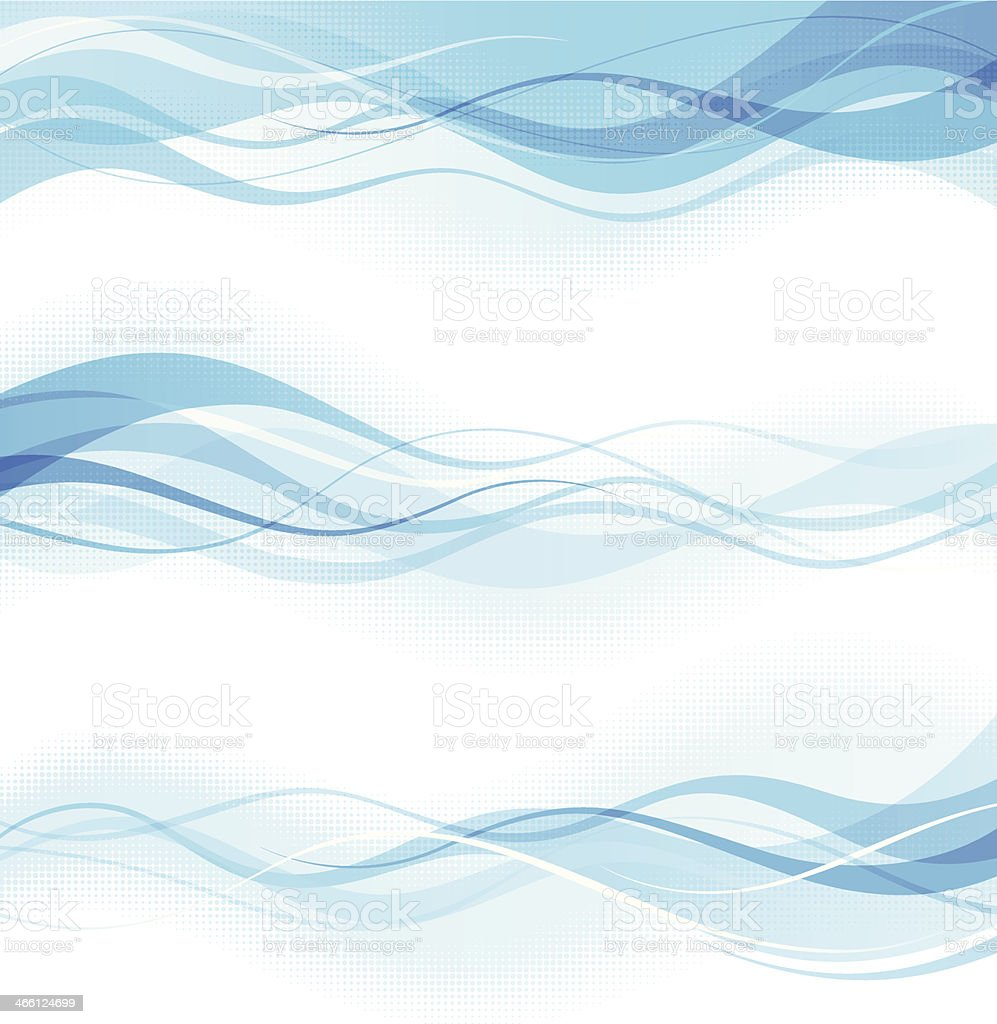 Abstract wavy banners vector art illustration