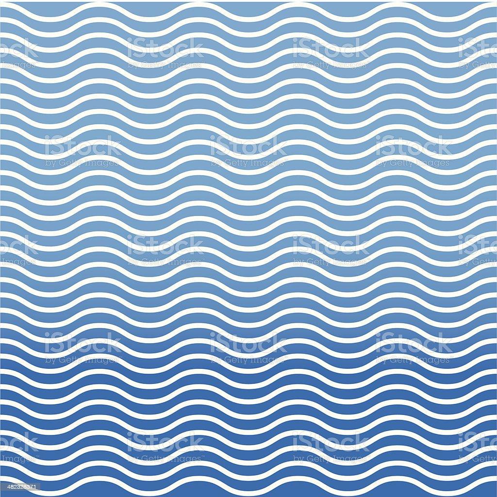 Abstract wavy ocean background vector art illustration