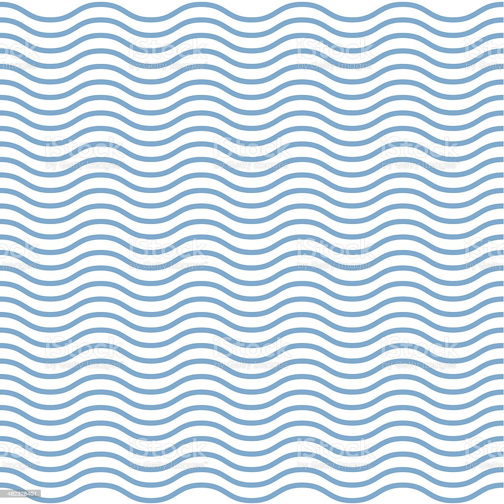Abstract wavy ocean background vector art illustration