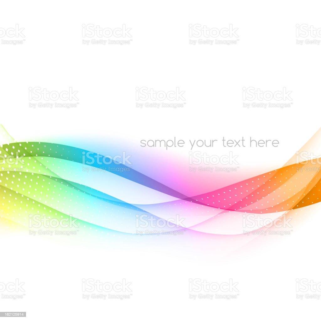Abstract wavy ribbon effect background vector art illustration