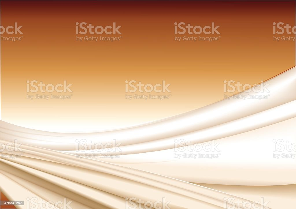 Abstract wavy silk background vector art illustration