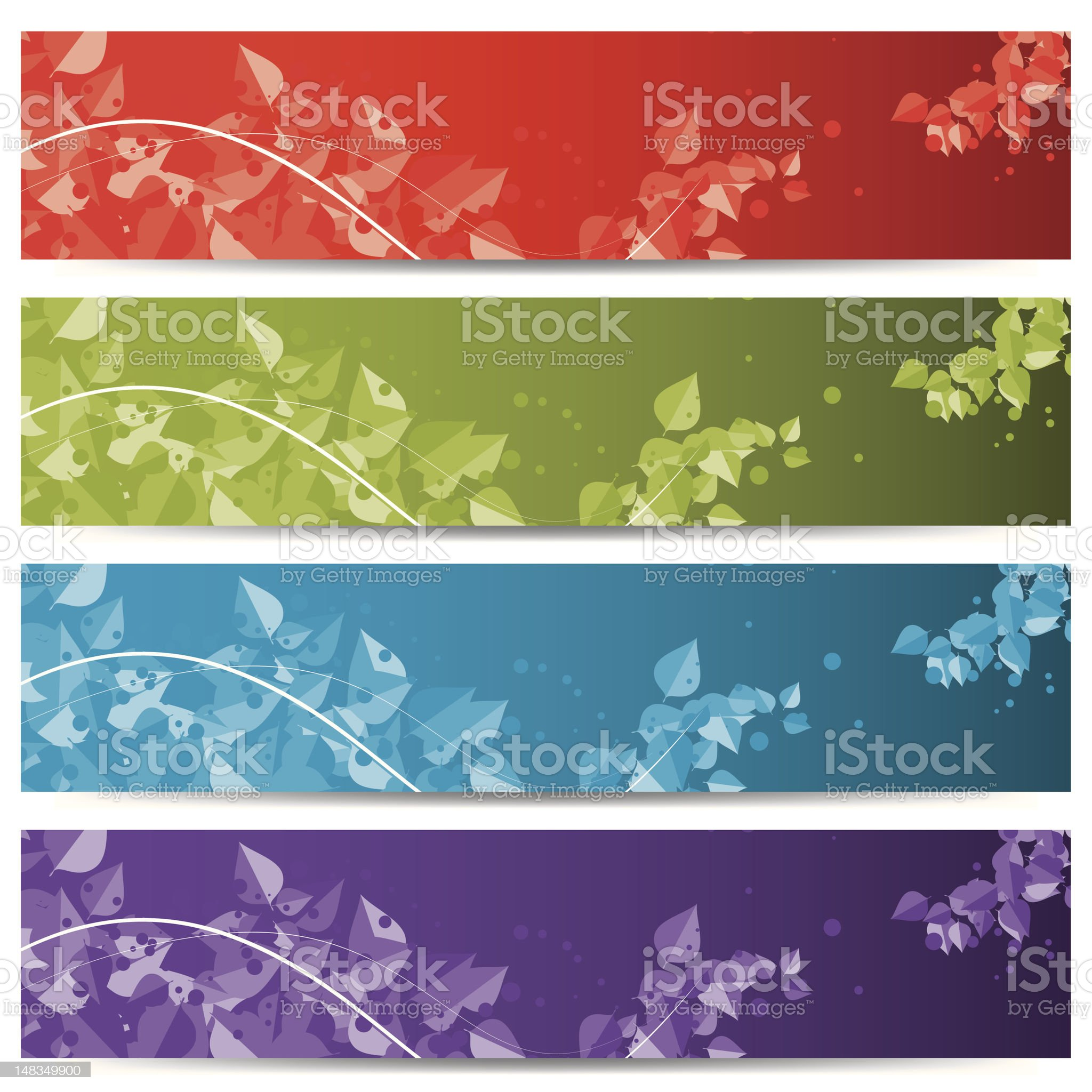 abstract web headers/banners royalty-free stock vector art