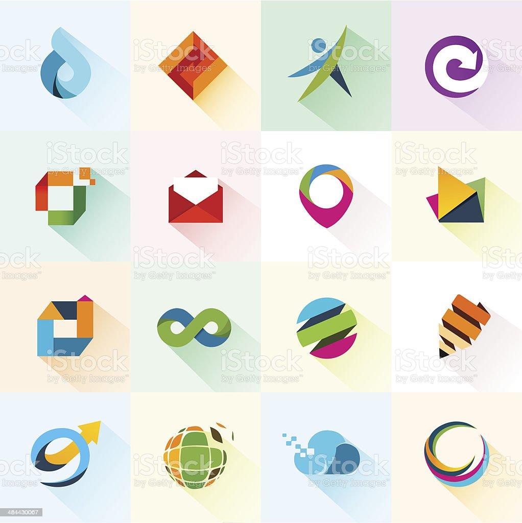 Abstract web Icons and elements vector art illustration