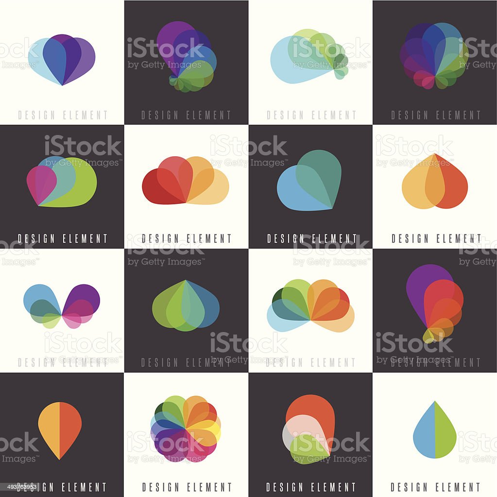 abstract web icons for company business vector art illustration