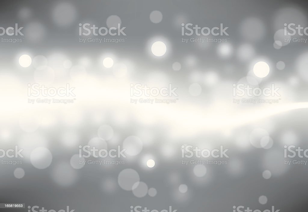 Abstract white on grey Bokeh effect royalty-free stock vector art