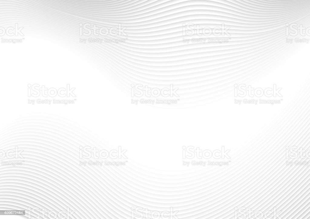 Abstract white waves and lines pattern vector art illustration