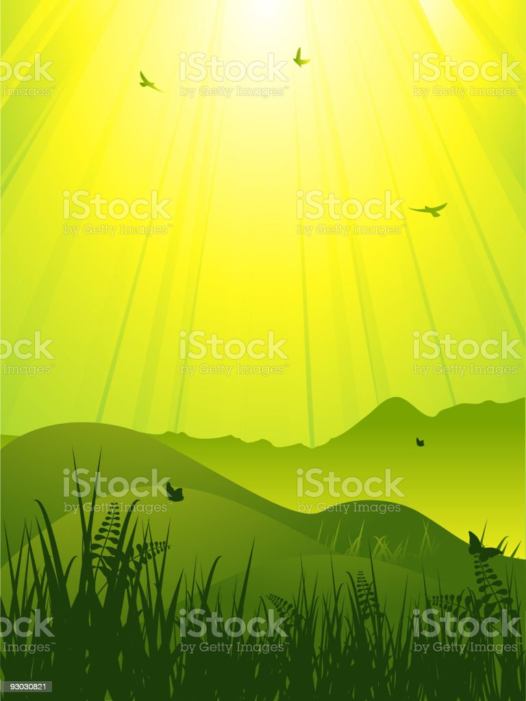 abstract wild landscape royalty-free stock vector art