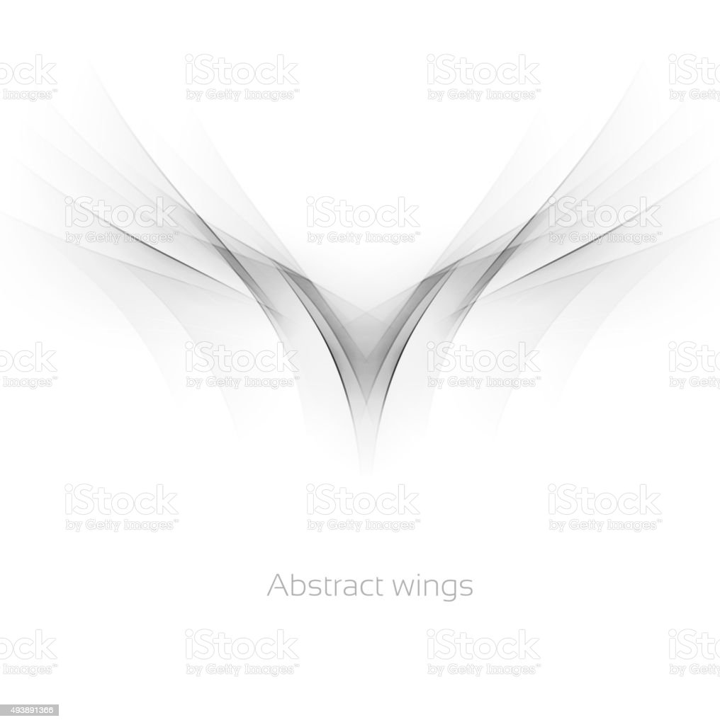 Abstract wings vector art illustration