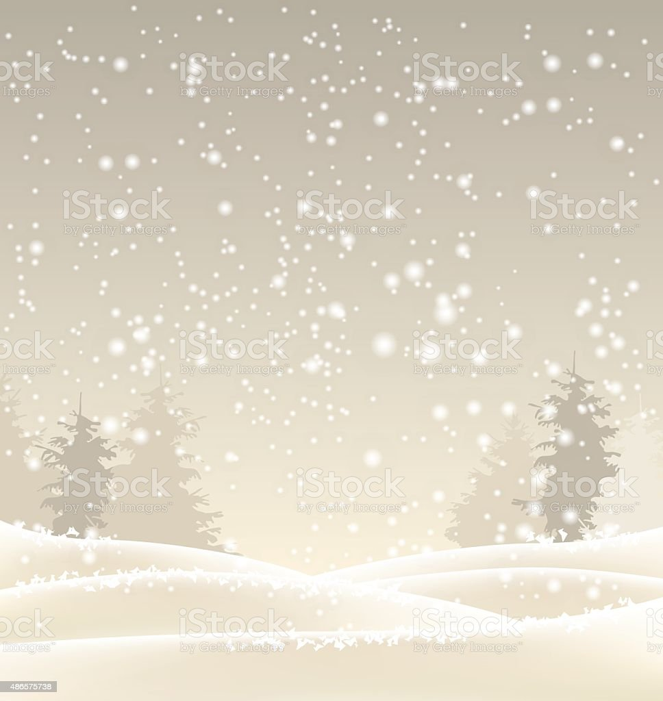 abstract winter background in sepia tone, illustration vector art illustration