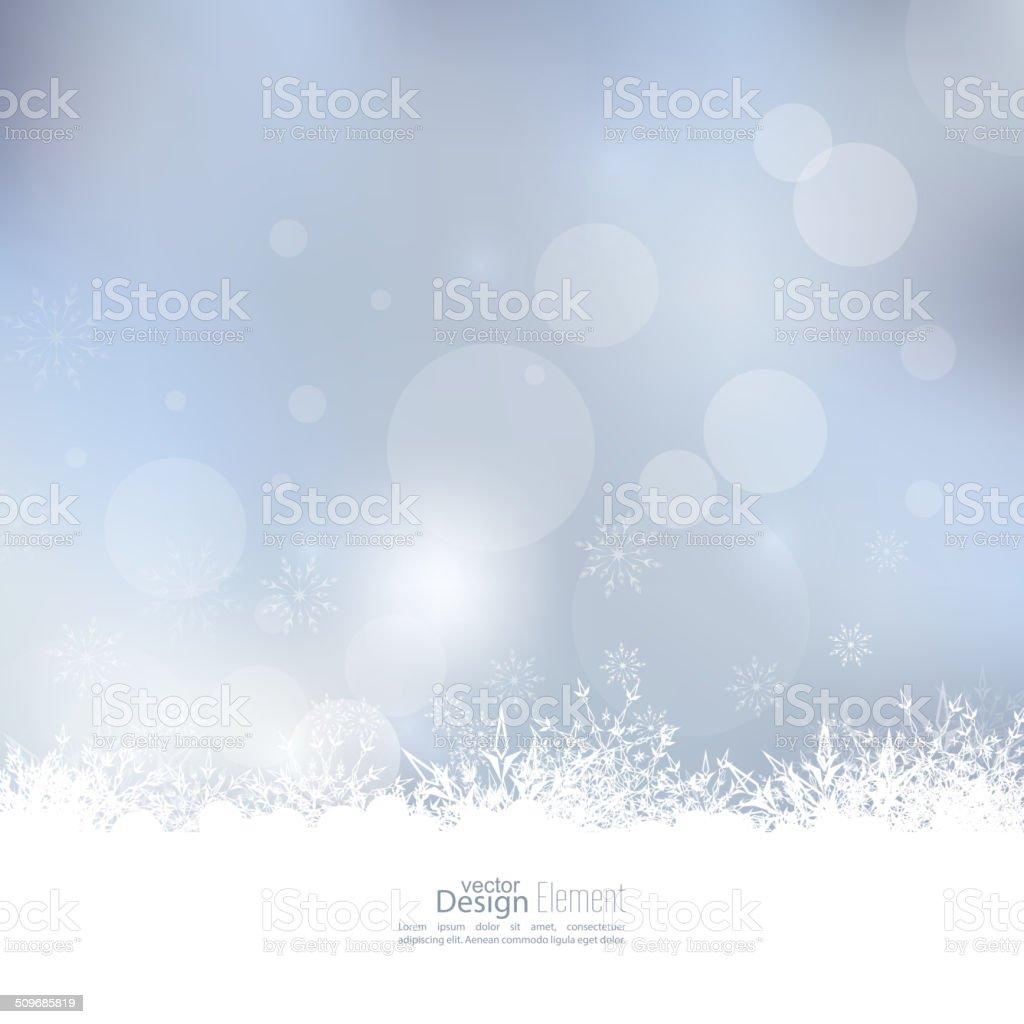 Abstract Winter Background vector art illustration