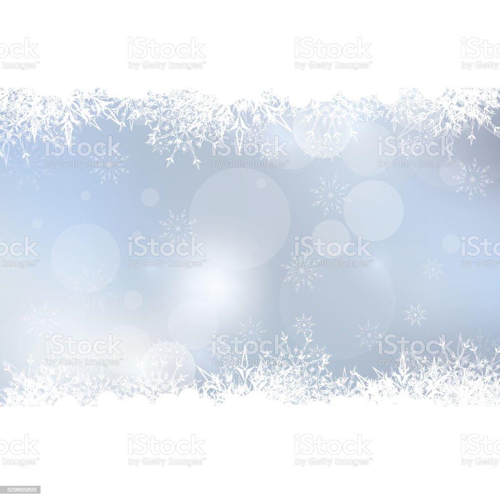 Abstract Winter Background vector art illustration