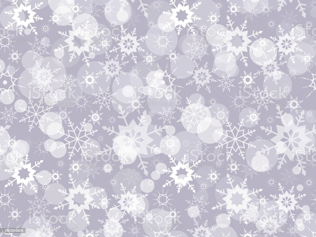 Abstract winter background with snowflakes royalty-free stock vector art