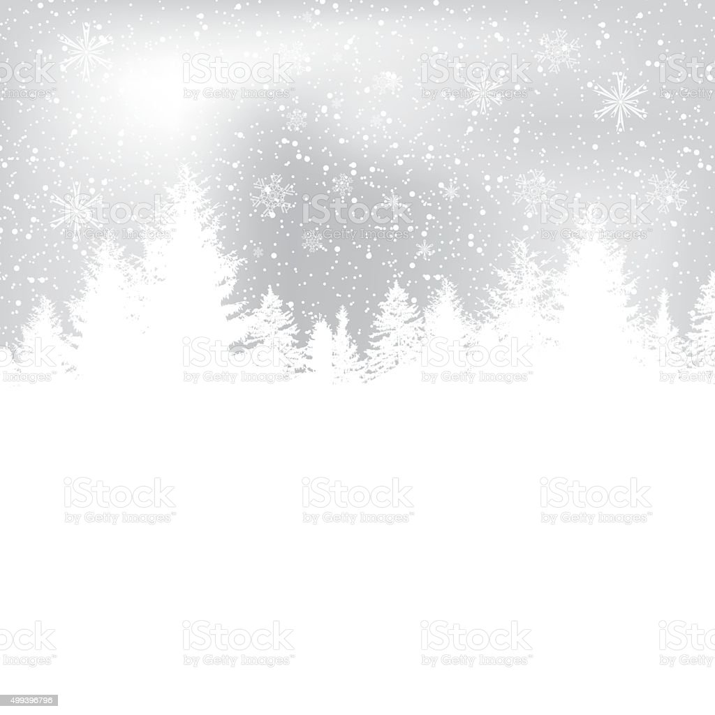 Abstract winter snowflakes background vector art illustration