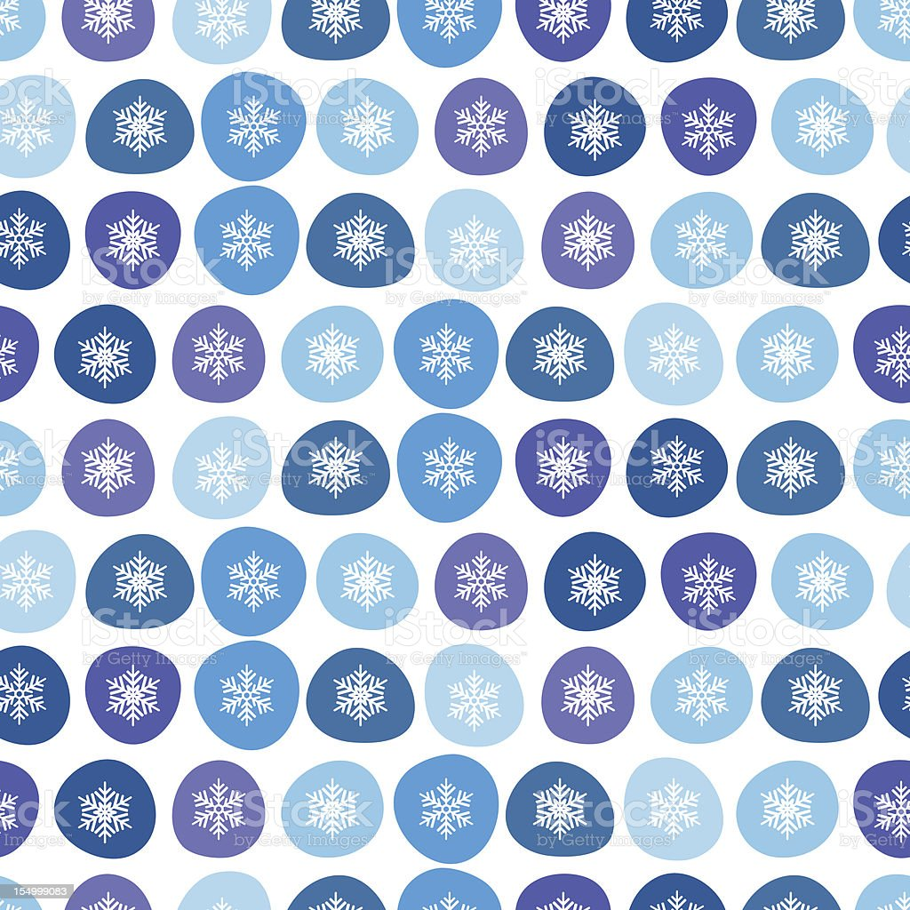 Abstract winter snowflakes seamless background. royalty-free stock vector art