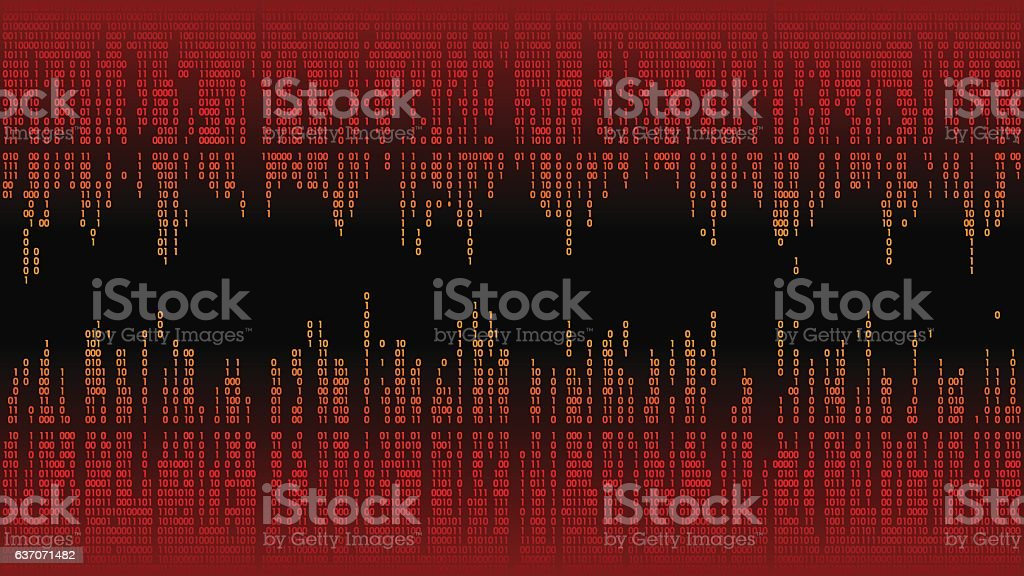 Abstract with digital lines, binary code, matrix background with digits vector art illustration
