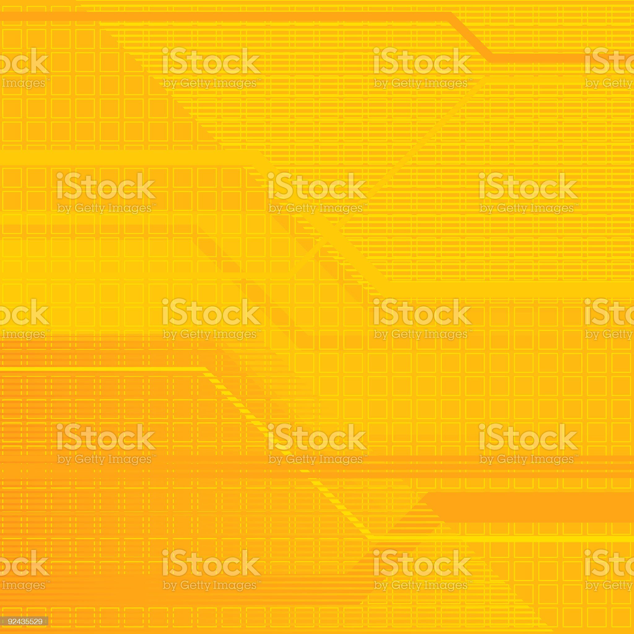 Abstract yellow and gold square and line background royalty-free stock vector art