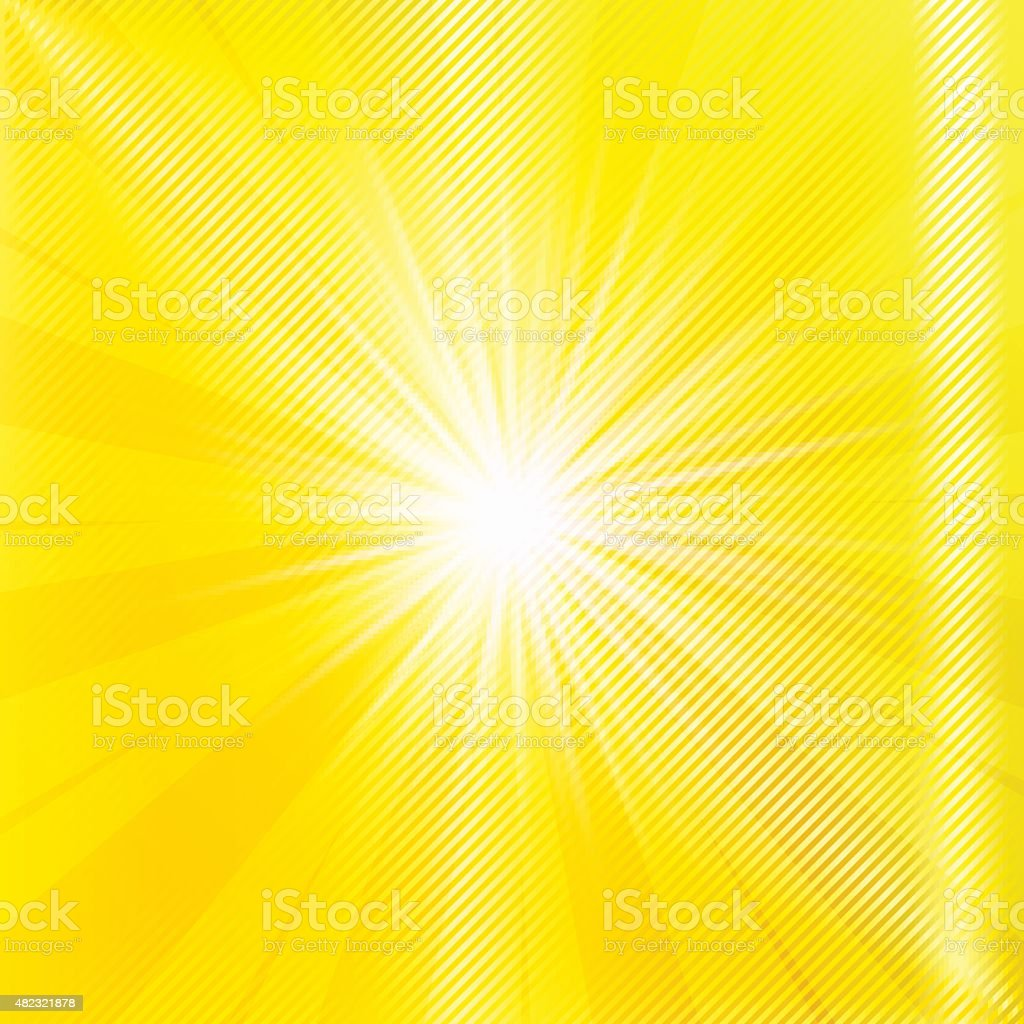 Abstract yellow brighy summer background. vector art illustration