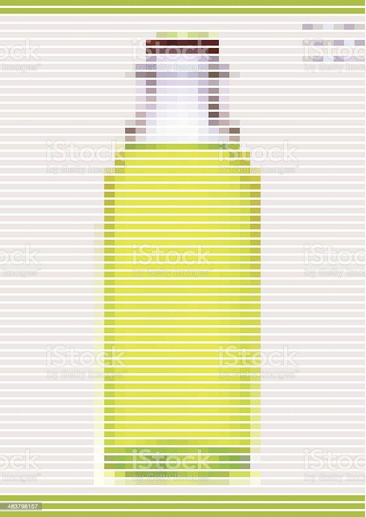 abstract yellow stripe style bottle pattern background vector art illustration