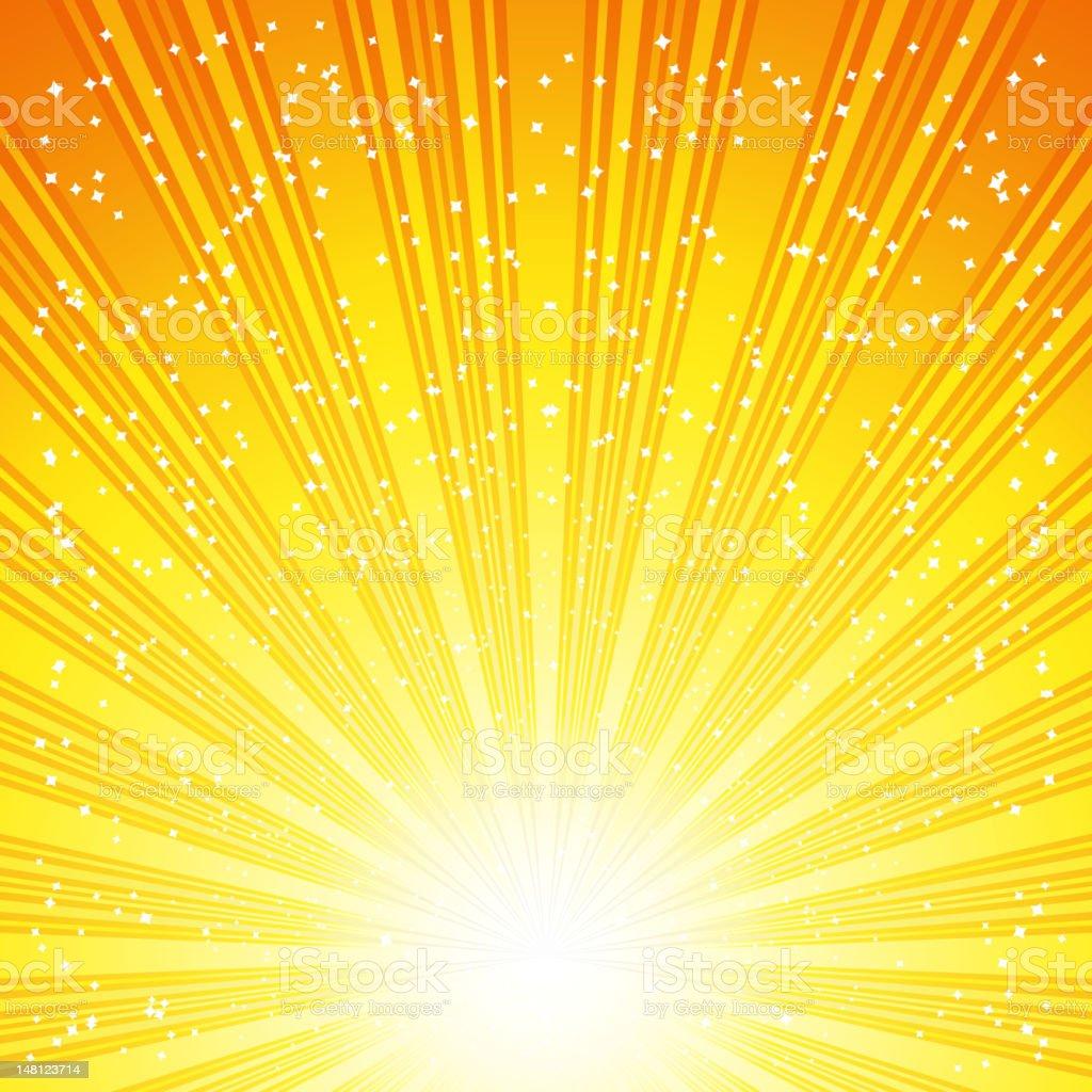 Abstract yellow sunburst background illustration royalty-free stock vector art
