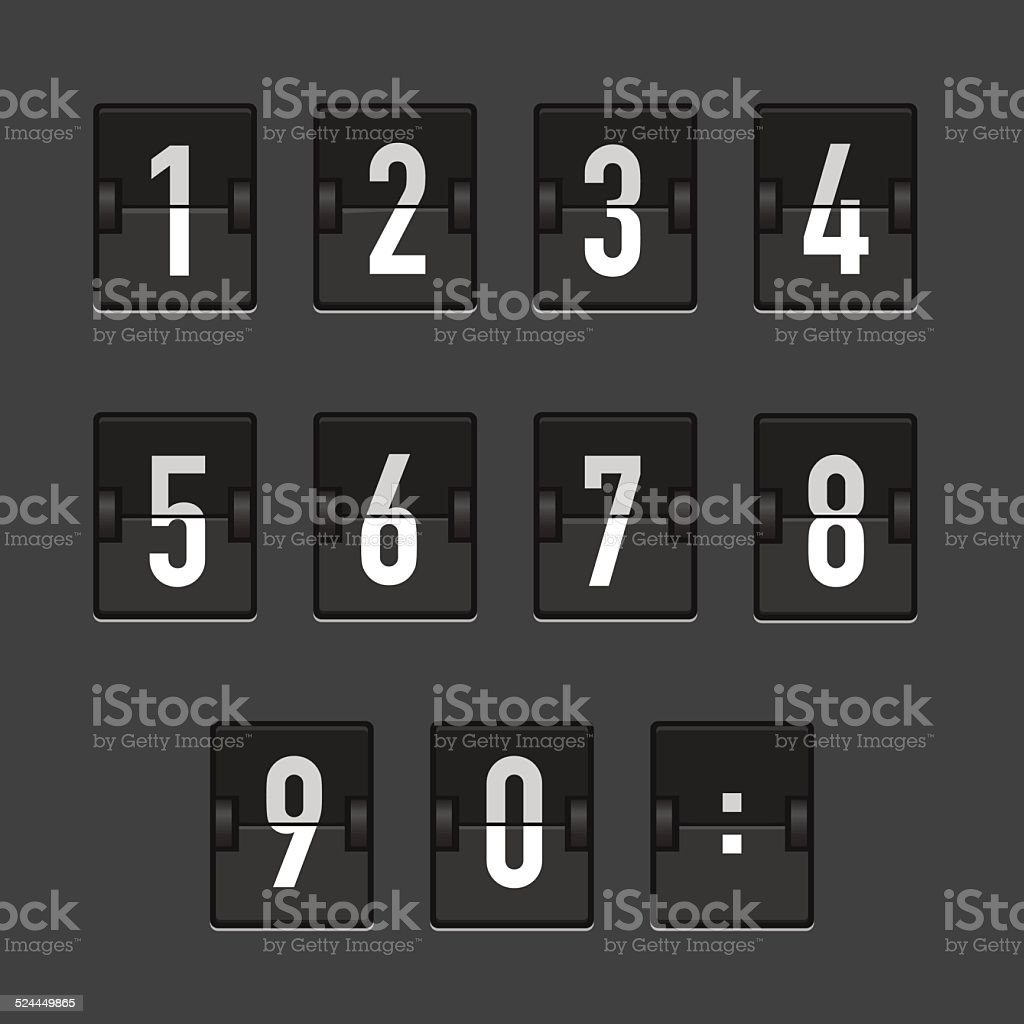 AbstractBlackRetroScoreboard vector art illustration