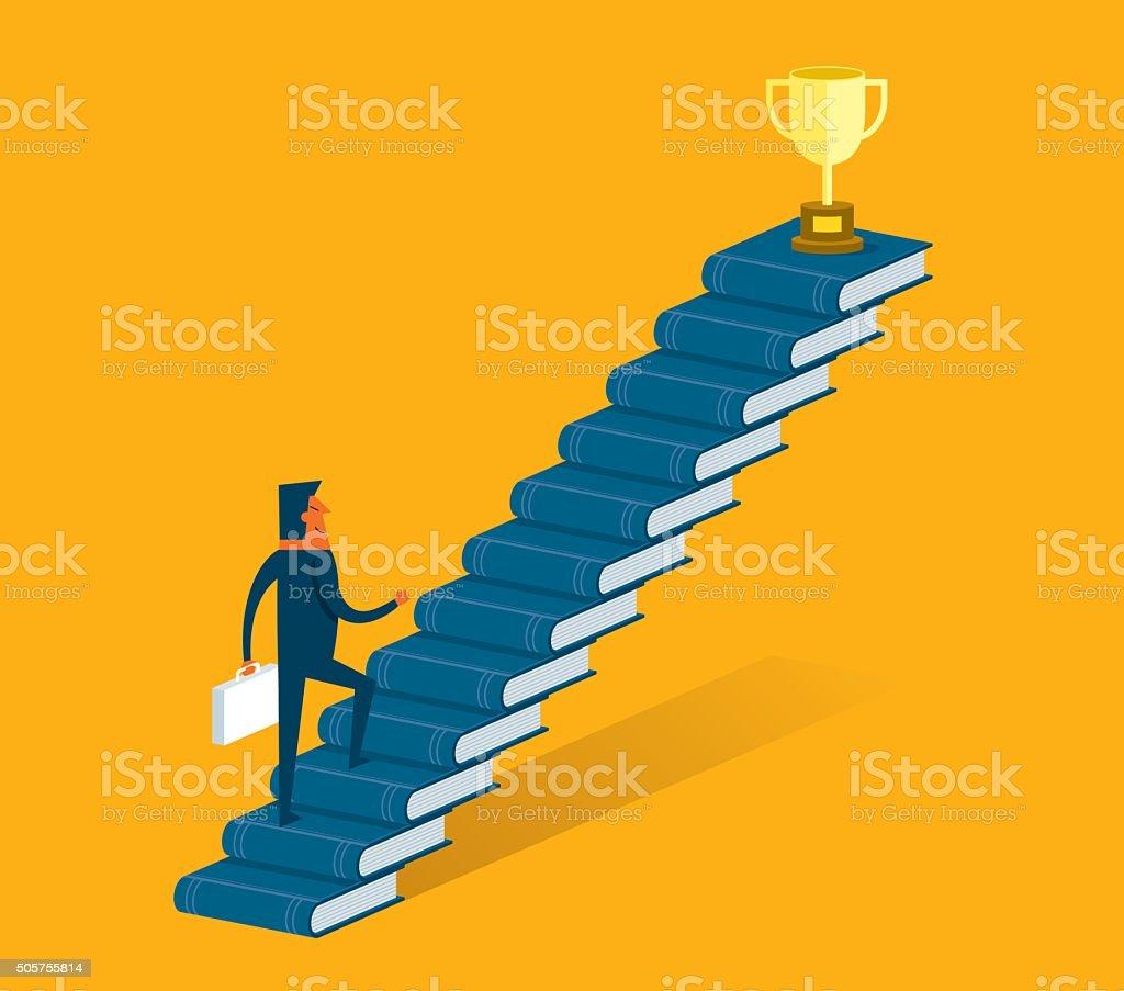 Academic Achievement vector art illustration