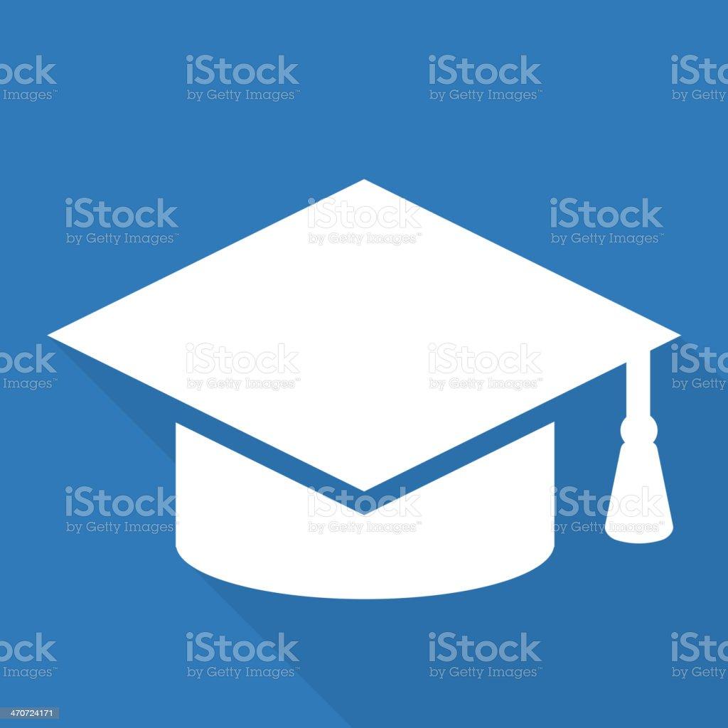 Academic cap icon. Study hat symbol vector art illustration