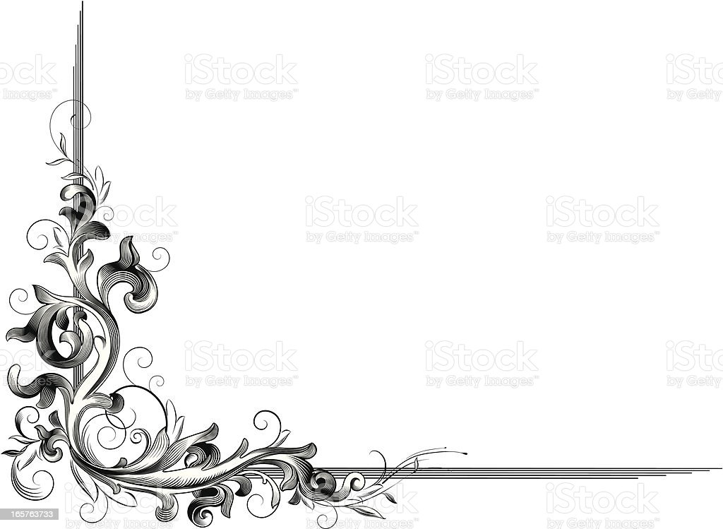 Acanthus corner decor stock vector art 165763733 istock for Acanthus decoration