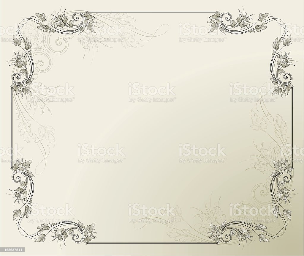 Acanthus ornamental  Frame vector art illustration
