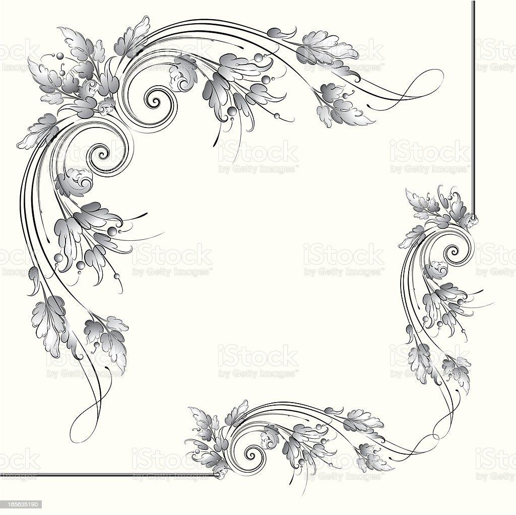 Acanthus Scroll Corner vector art illustration