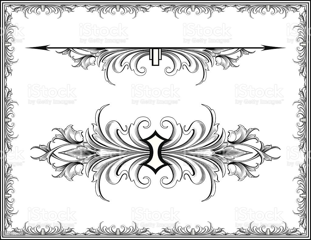 Acanthus Symmetry royalty-free stock vector art