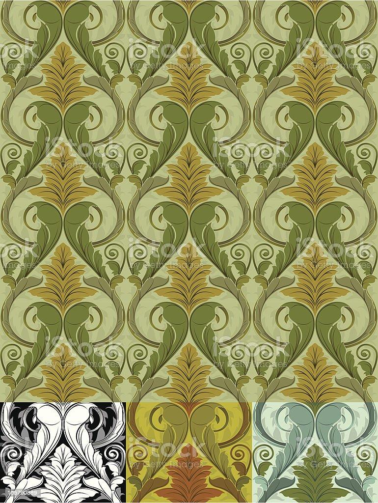 Acanthus Wallpaper vector art illustration