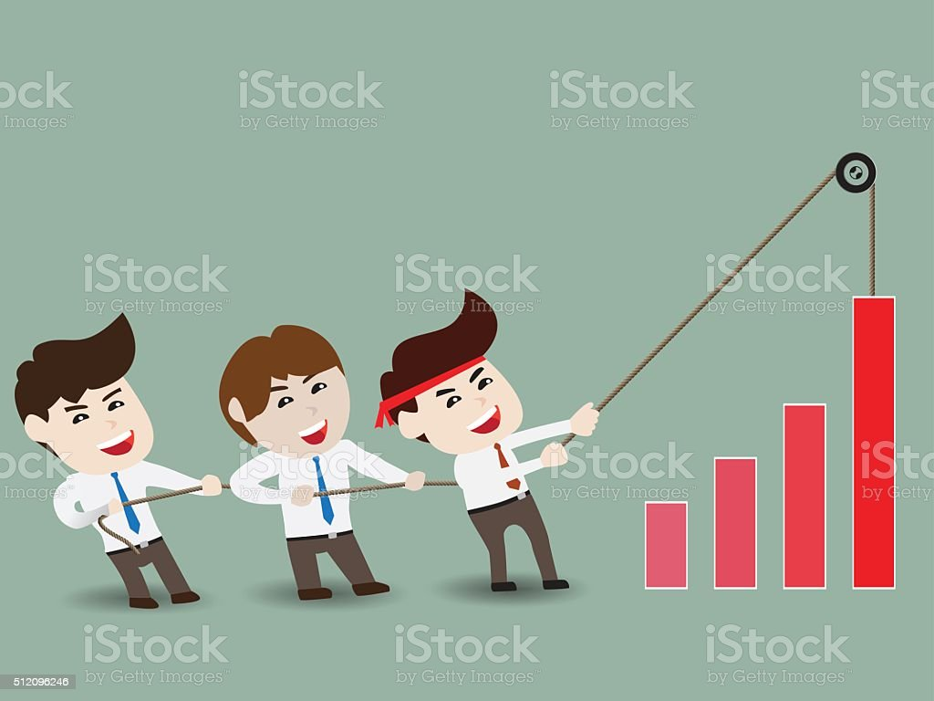 Accelerate business growth vector art illustration
