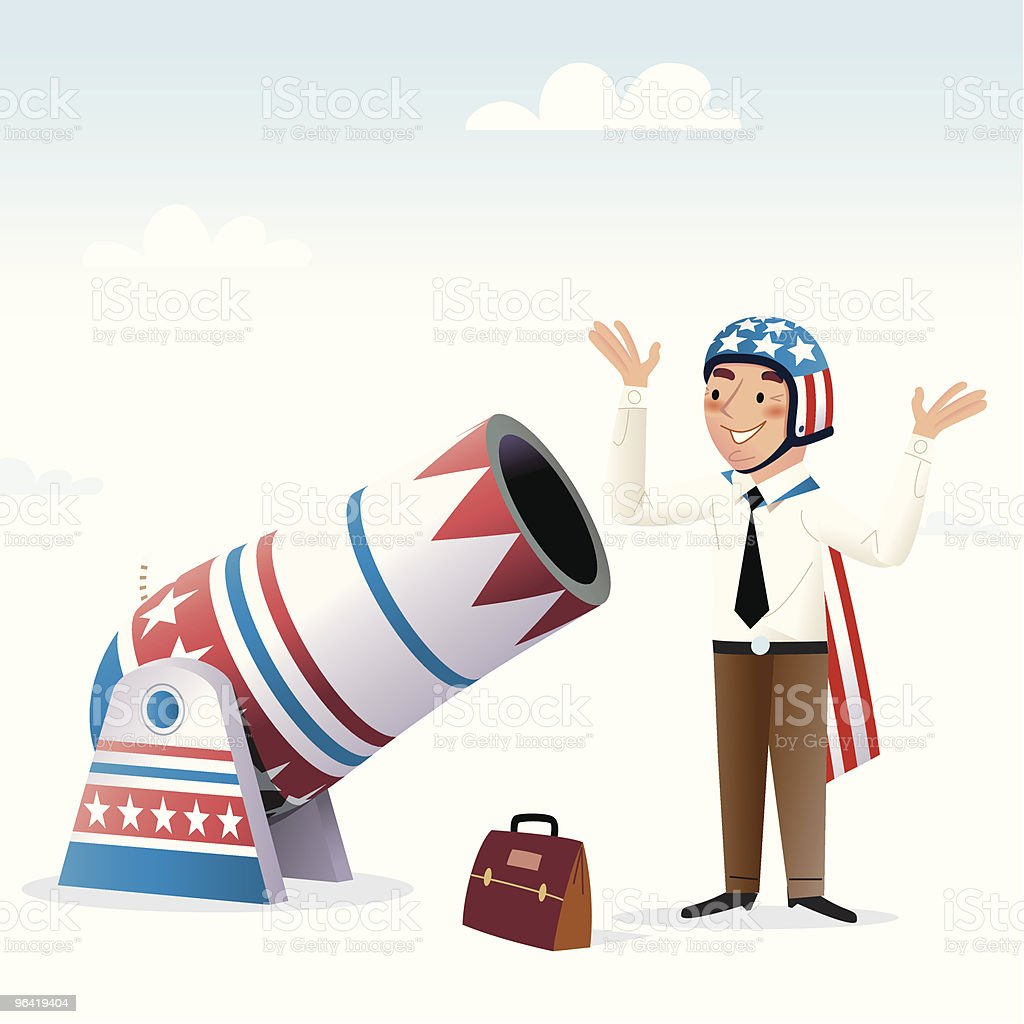 Accelerated Career Path vector art illustration