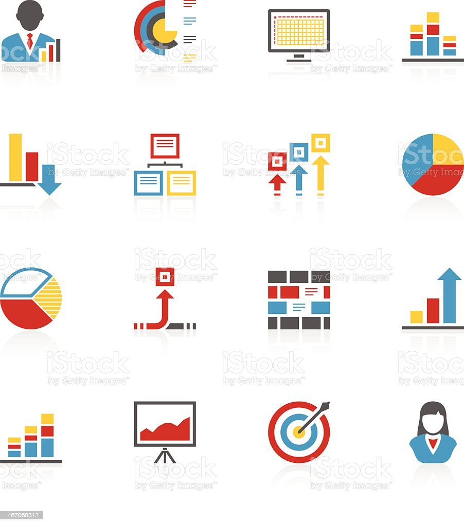 Accent Series Infographics vector art illustration