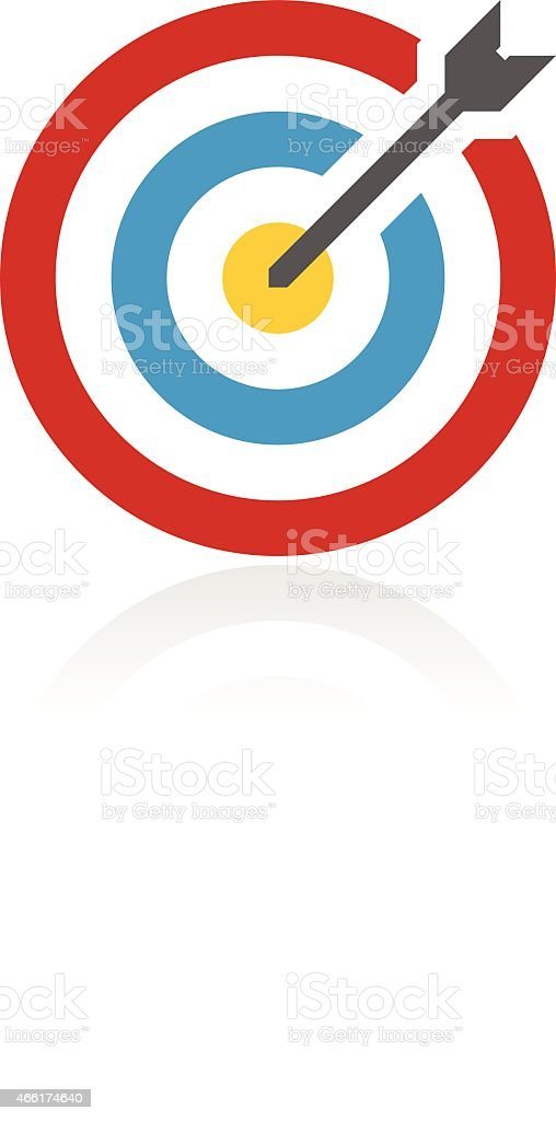 Accent Series Target icon vector art illustration
