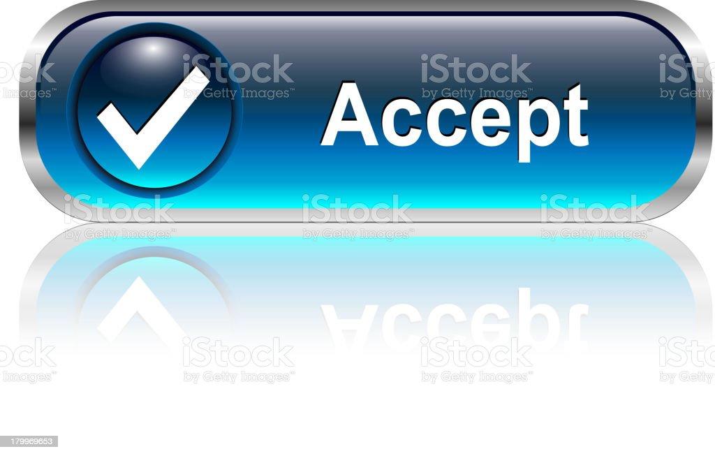 Accept Button royalty-free stock vector art