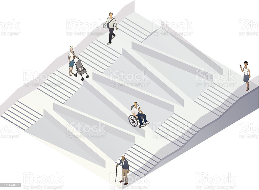 Accessibility Illustration royalty-free stock vector art