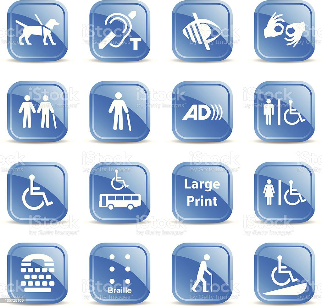 Accessibility Signs royalty-free stock vector art