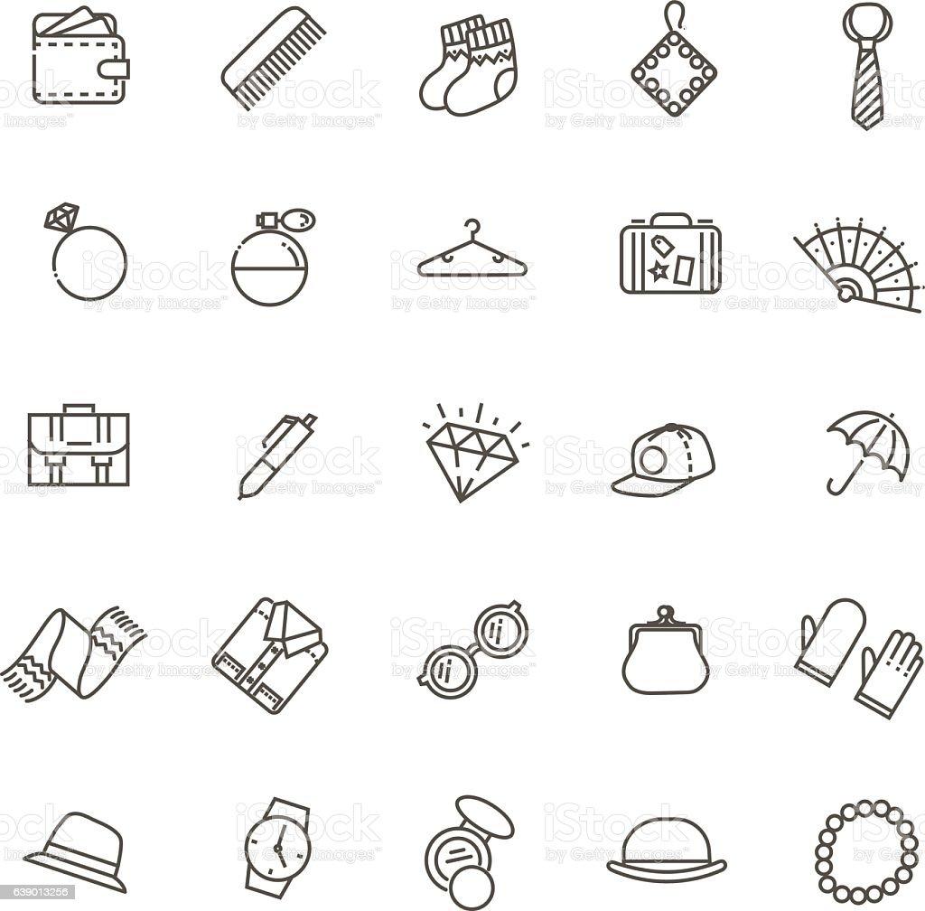 accessories concept illustration, line flat design vector art illustration