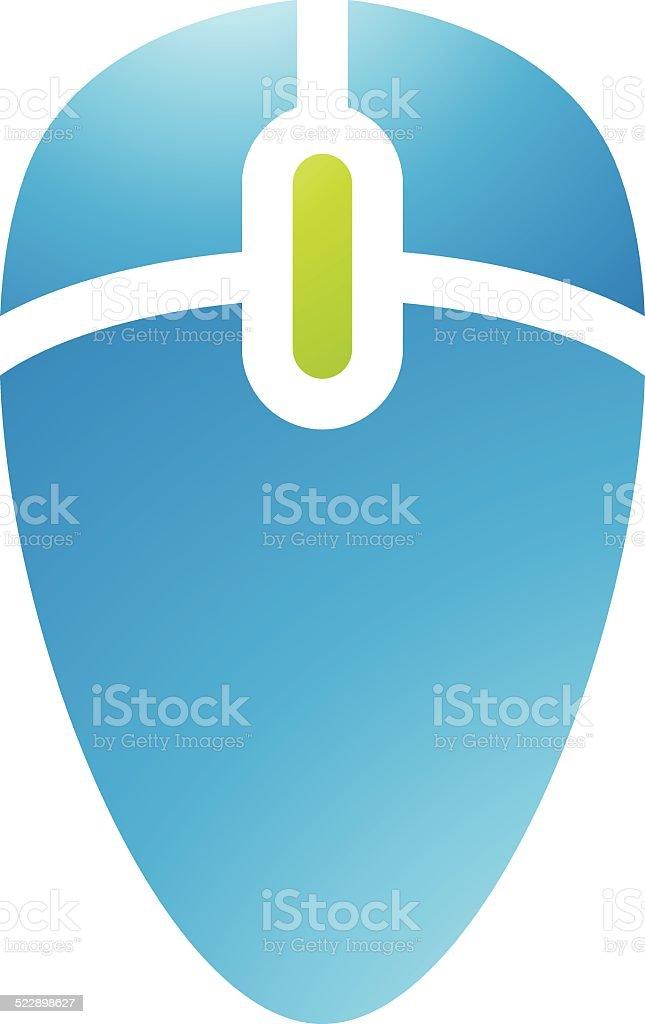 Accessoires icône de la souris ordinateur stock vecteur libres de droits libre de droits
