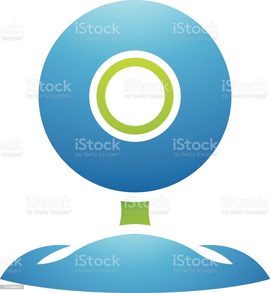 PC accessoires webcam stock vecteur libres de droits libre de droits